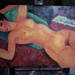 oil copy of a modigliani nude