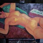 oil copy of a modigliani nude