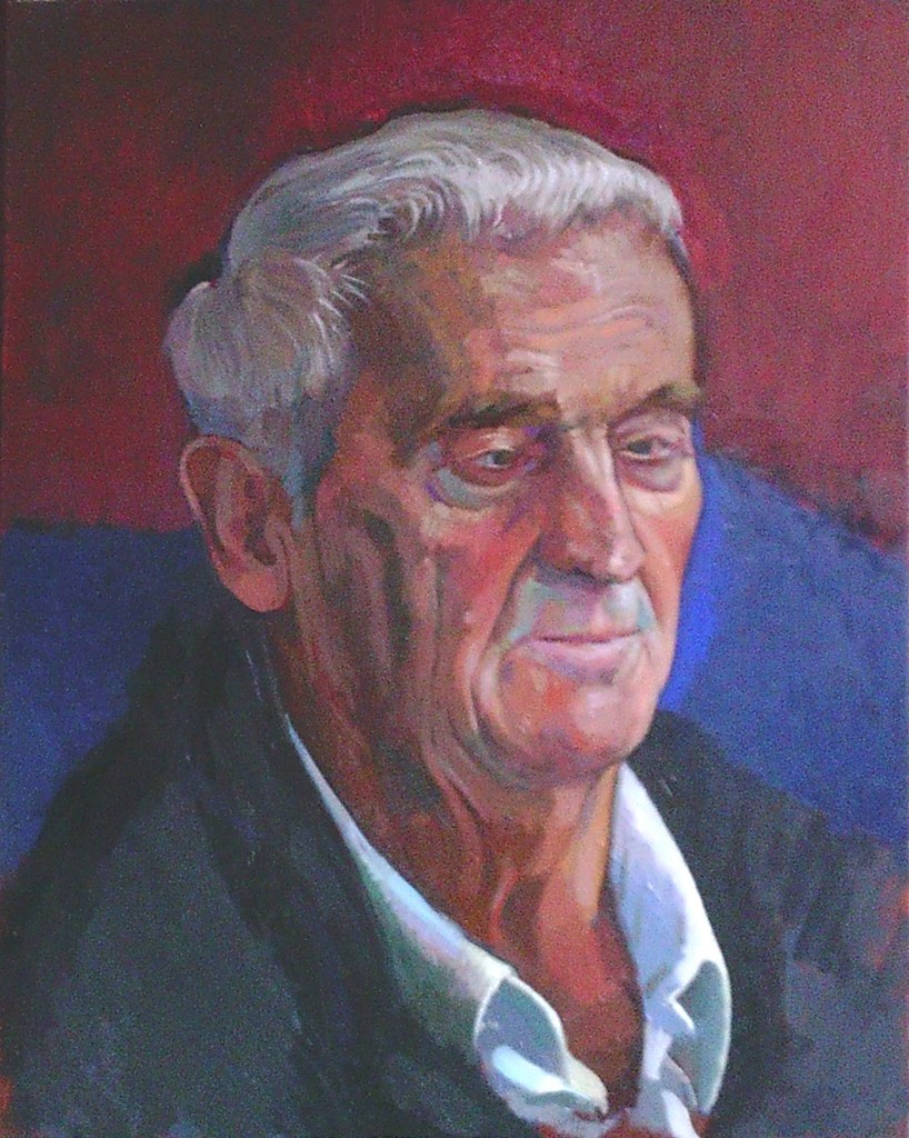 oil painting of Ray by alan dedman