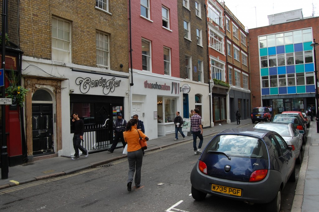 pic of Carlisle street where the Dolls House was soho