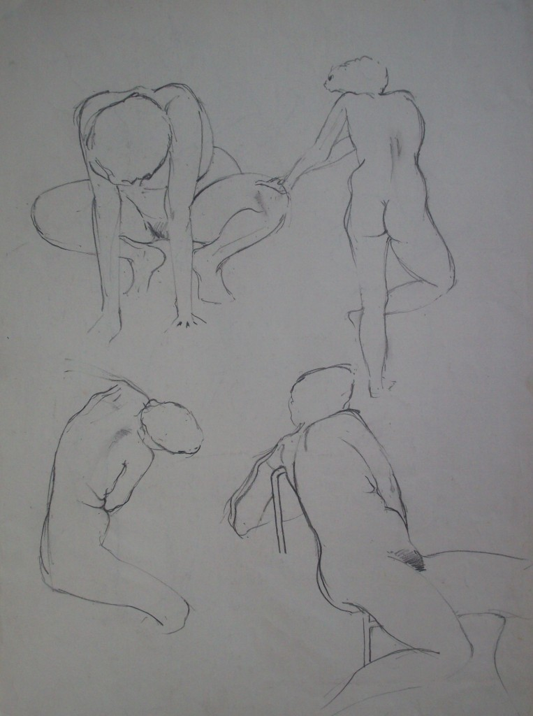 at St. Martins photo of life drawings by alan dedman