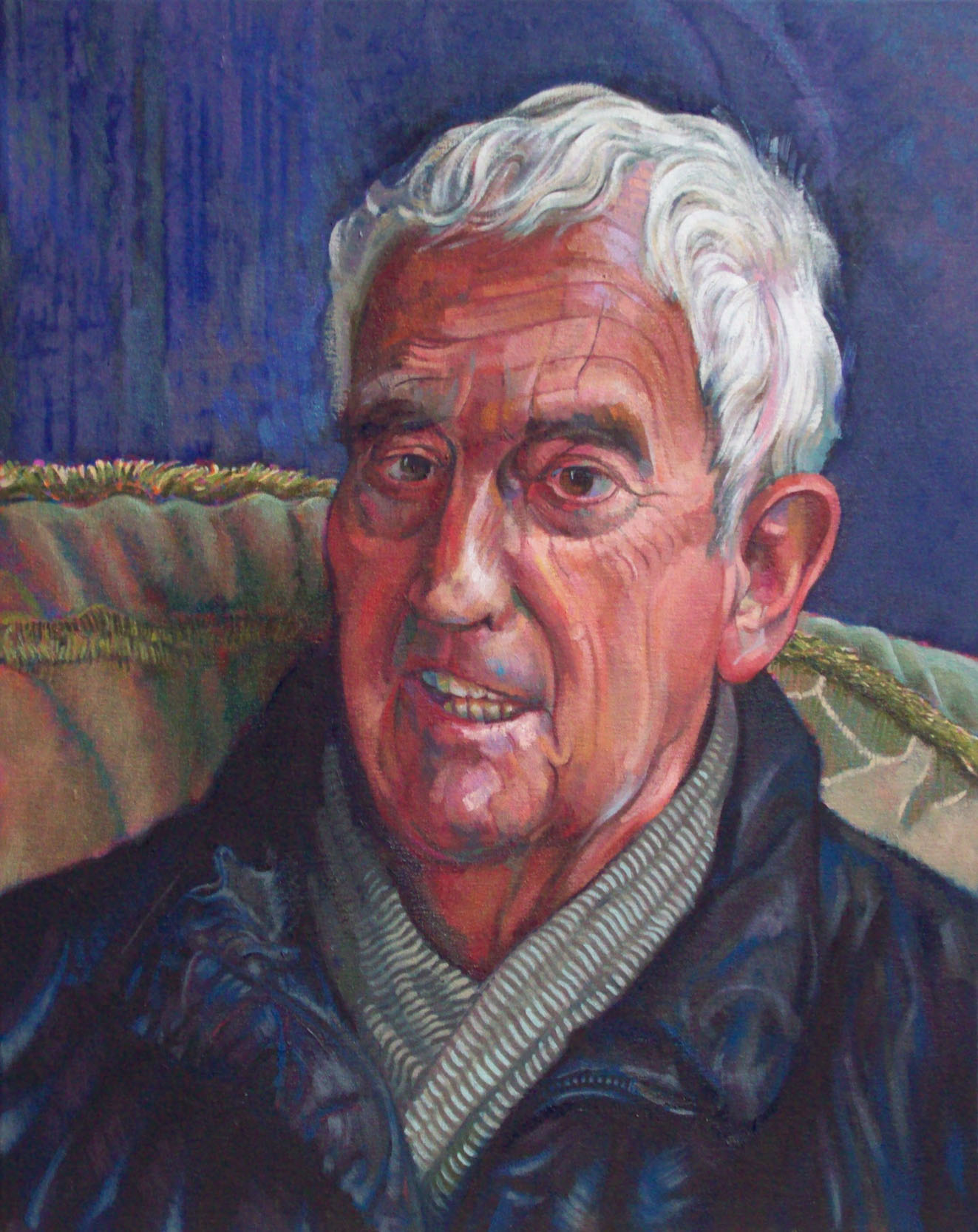 oil painting portrait of elderly gentleman by alan dedman