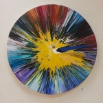 catalogue oil & acrylic abstract circular by alan dedman