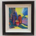 oil on board painting of a still life by alan dedman