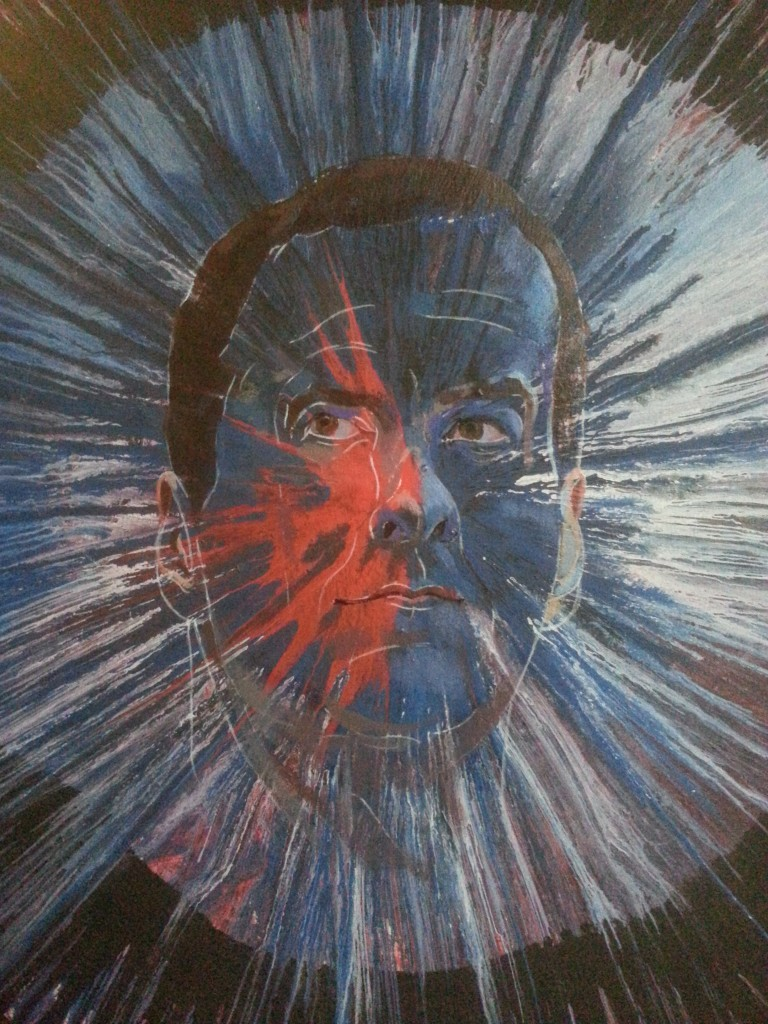 spin painting of chancellor george osborne by alan dedman