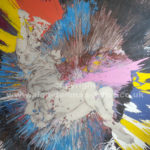 colourful spin painting with adele bloch-bauer by alan dedman
