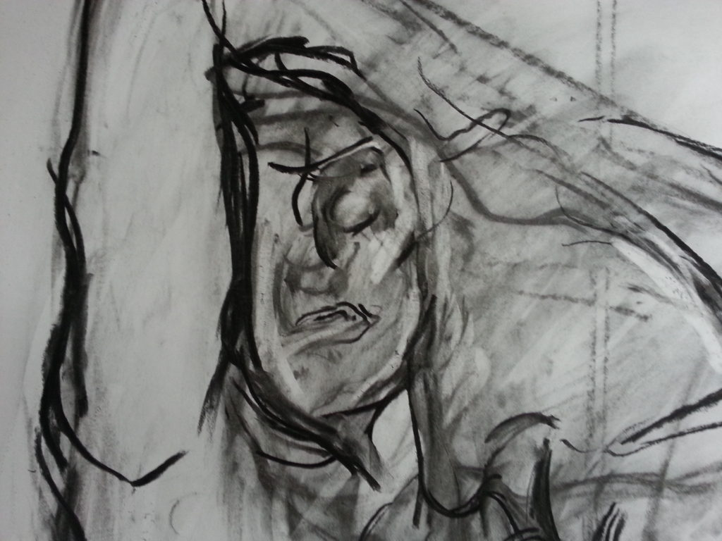 detail of drawing of adele bloch-bauer by alan dedman