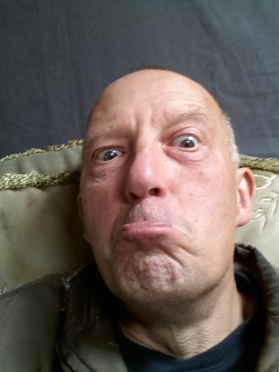 pic of alan dedman looking grumpy