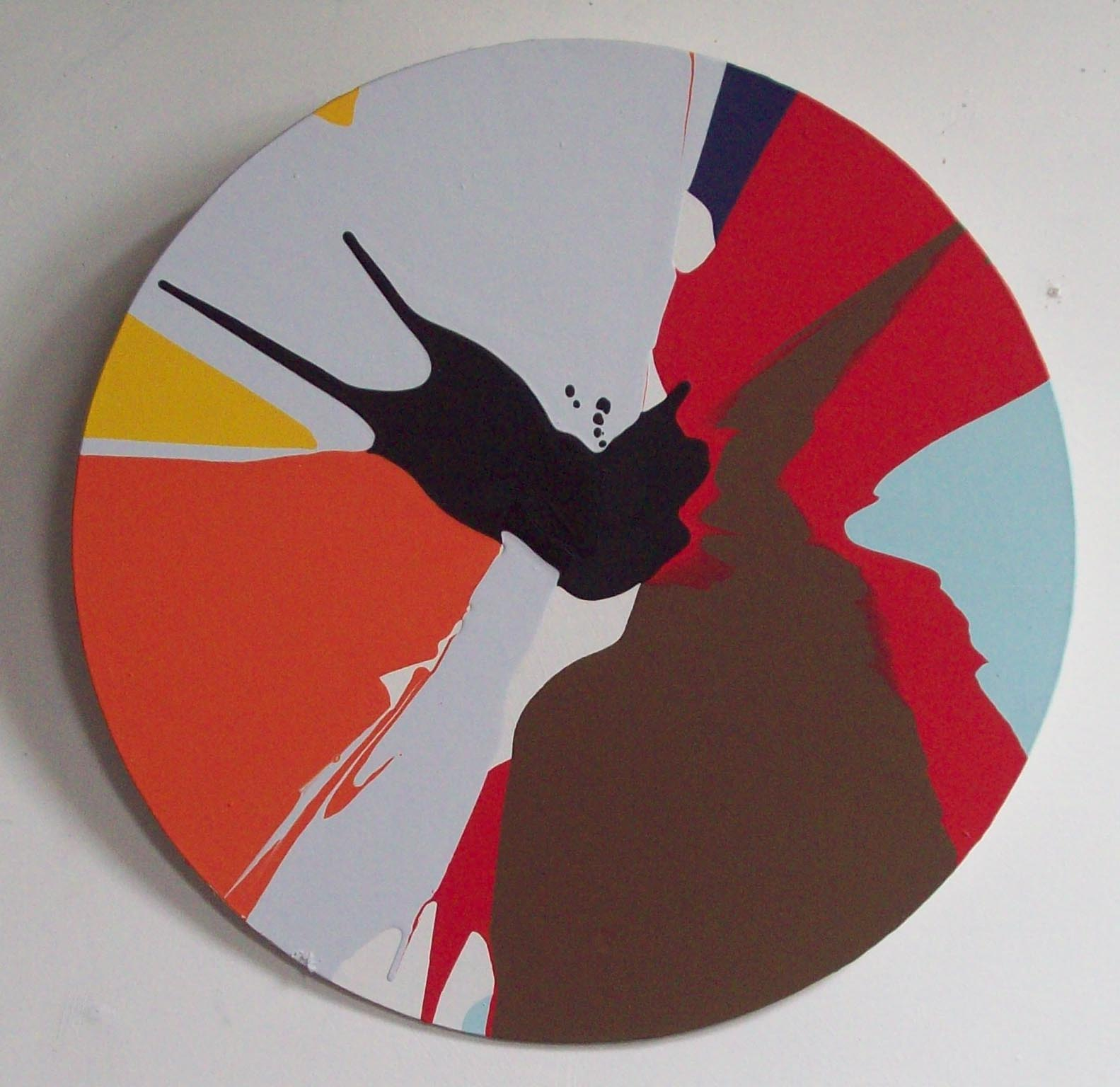 catalogue photo of a spin painting by alan dedman