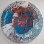 photo of spin painting of color portrait of Maxim by alan dedman