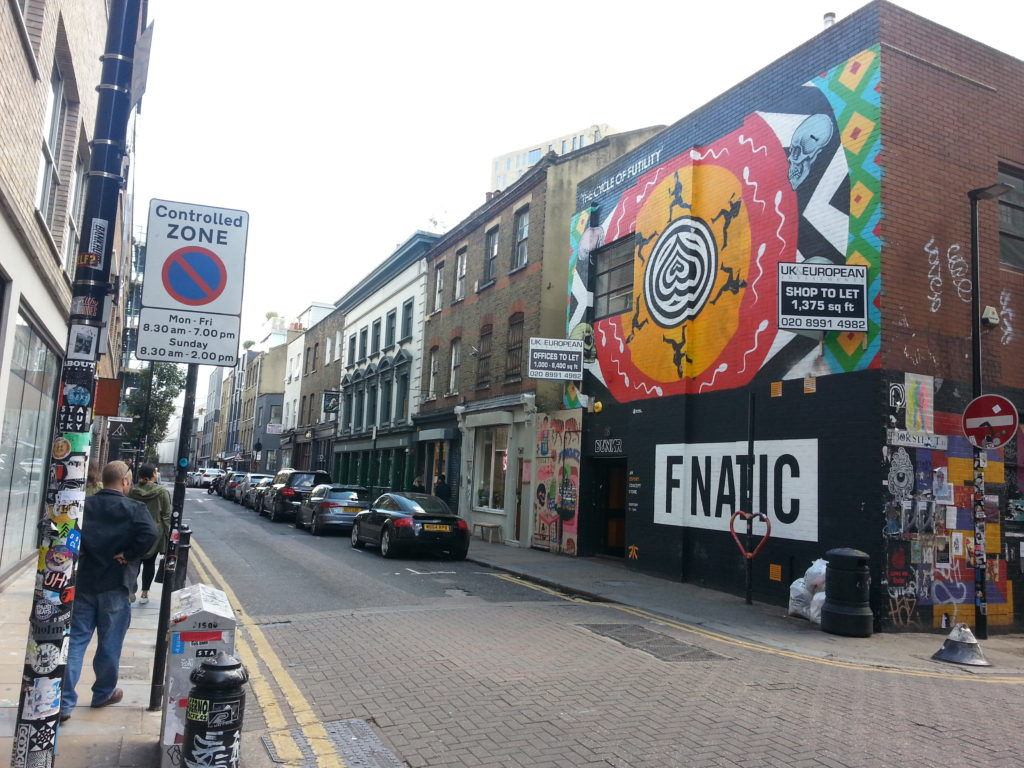 photo of street in shoreditch London