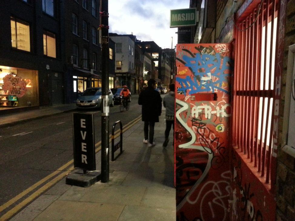 colour pic of redchurch street alan dedman