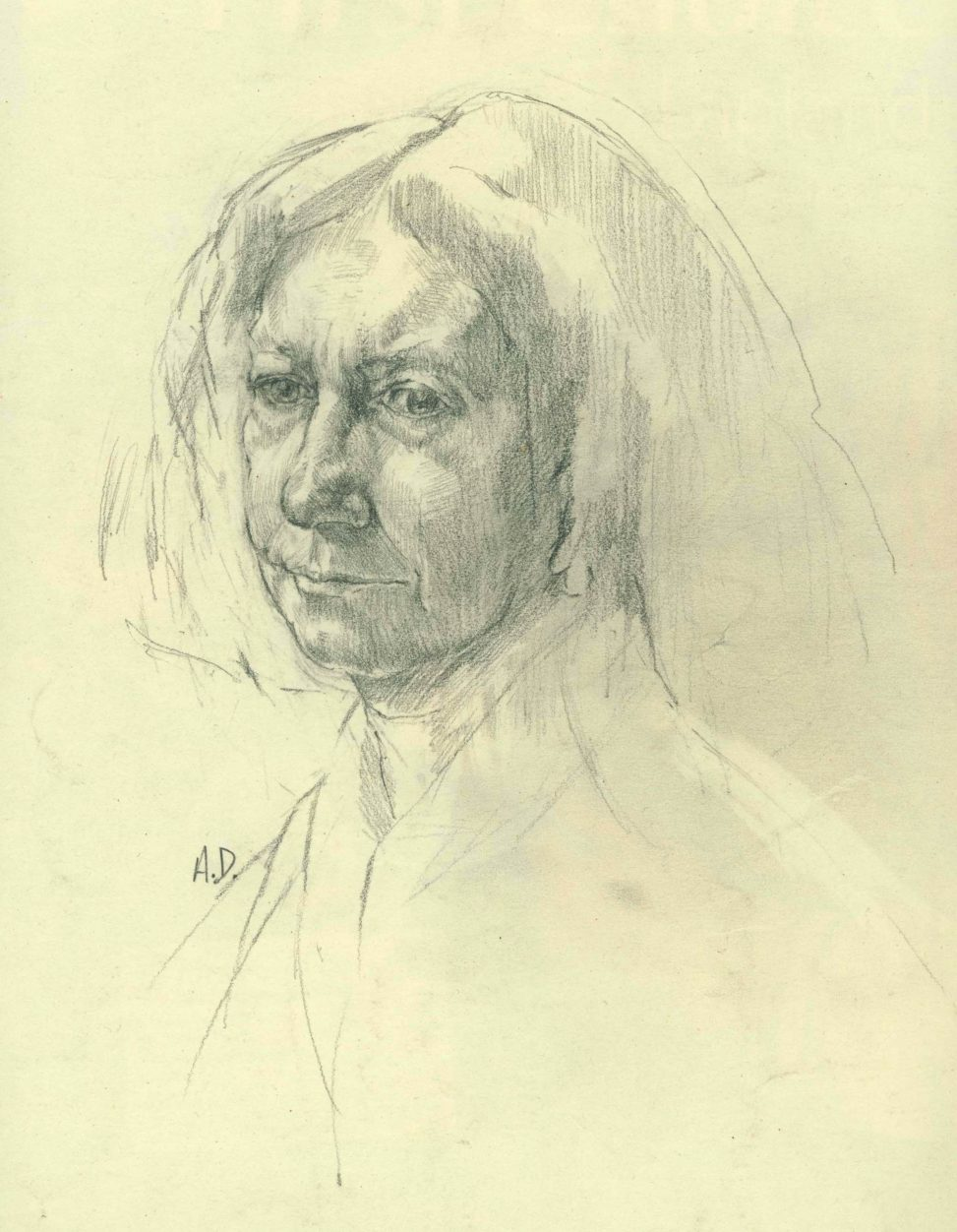 the royal academy schools by alan dedman drawing of woman called beryl