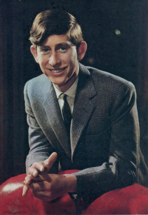 colour pic of HRH Prince Charles in 1966