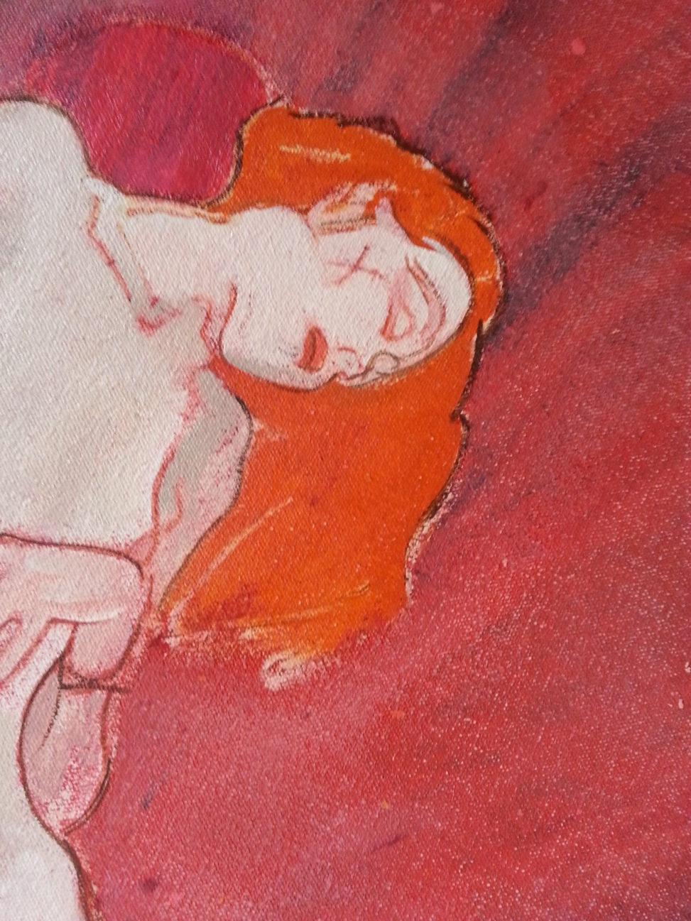 adele copy from klimt by alan dedman nude portrait