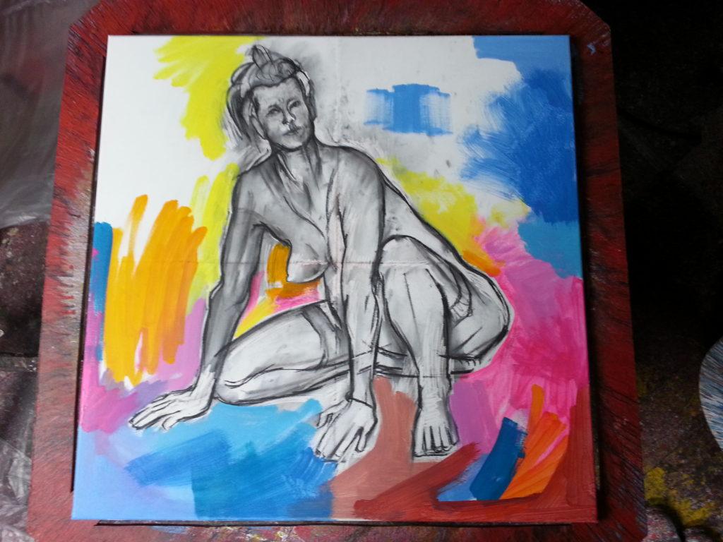 crouching nude by dedman
