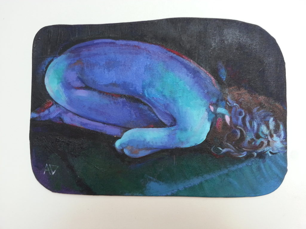 curled up nude by dedman