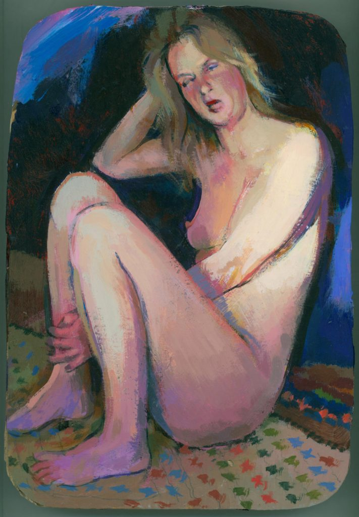 Yawning nude by dedman