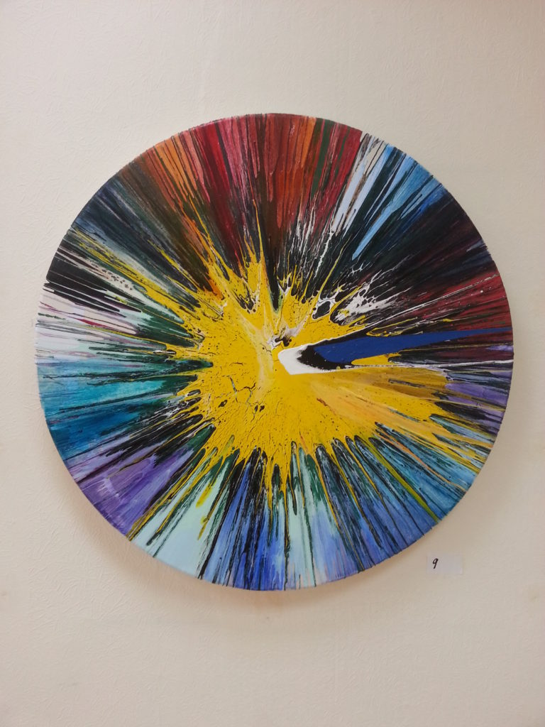color spin painting by alan dedman