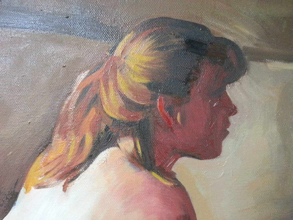 profile of the nude portrait painting by alan dedman