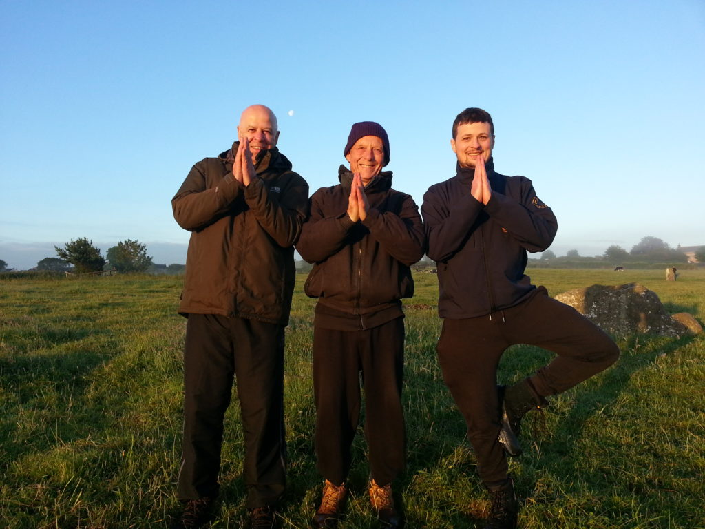colour photo yoga for blokes at stanton drew stone circles namaste solstice alan dedman