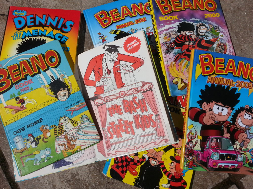 Pictures of the Beano as read by DC Mace  Alan Dedman