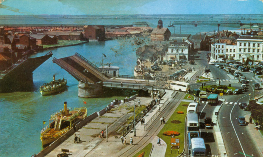 Vintage post card of Great Yarmouth showing the Hall Quay Great Yarmouth College of Art & Design Alan Dedman