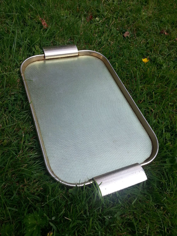 Tin tray as used by Derek Mace Alan Dedman