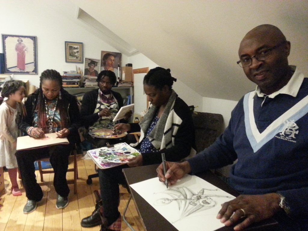 Art jam in milngavie alan dedman africa africans
