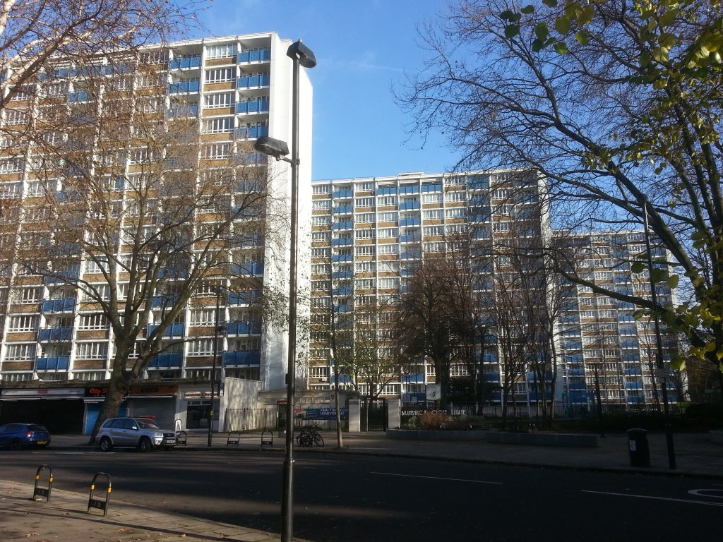 Pic of North London flats alan dedman studio dedman
