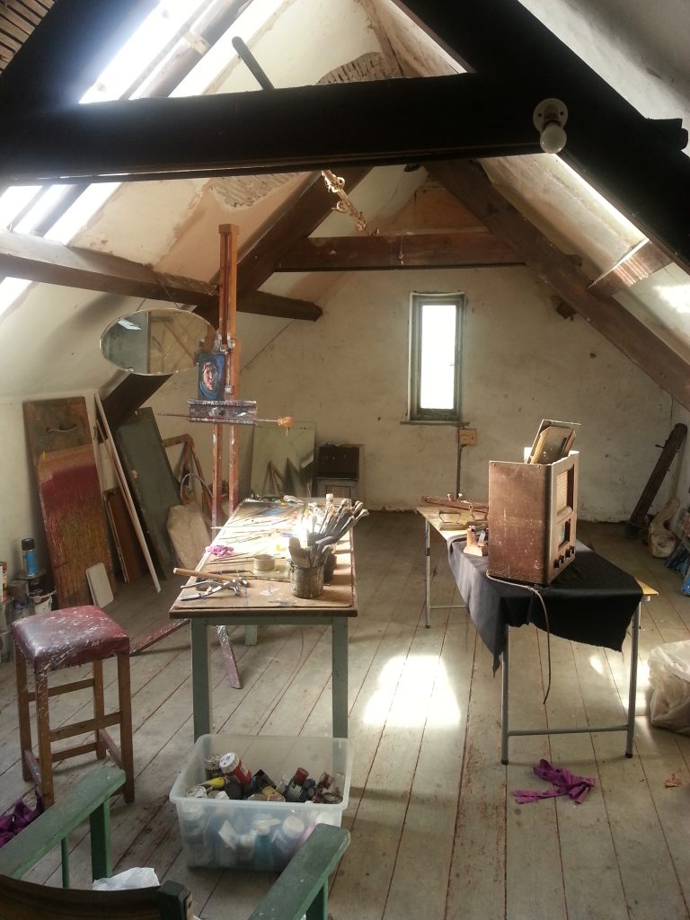 Pic of temporary studio interior Alan Dedman Studio Dedman