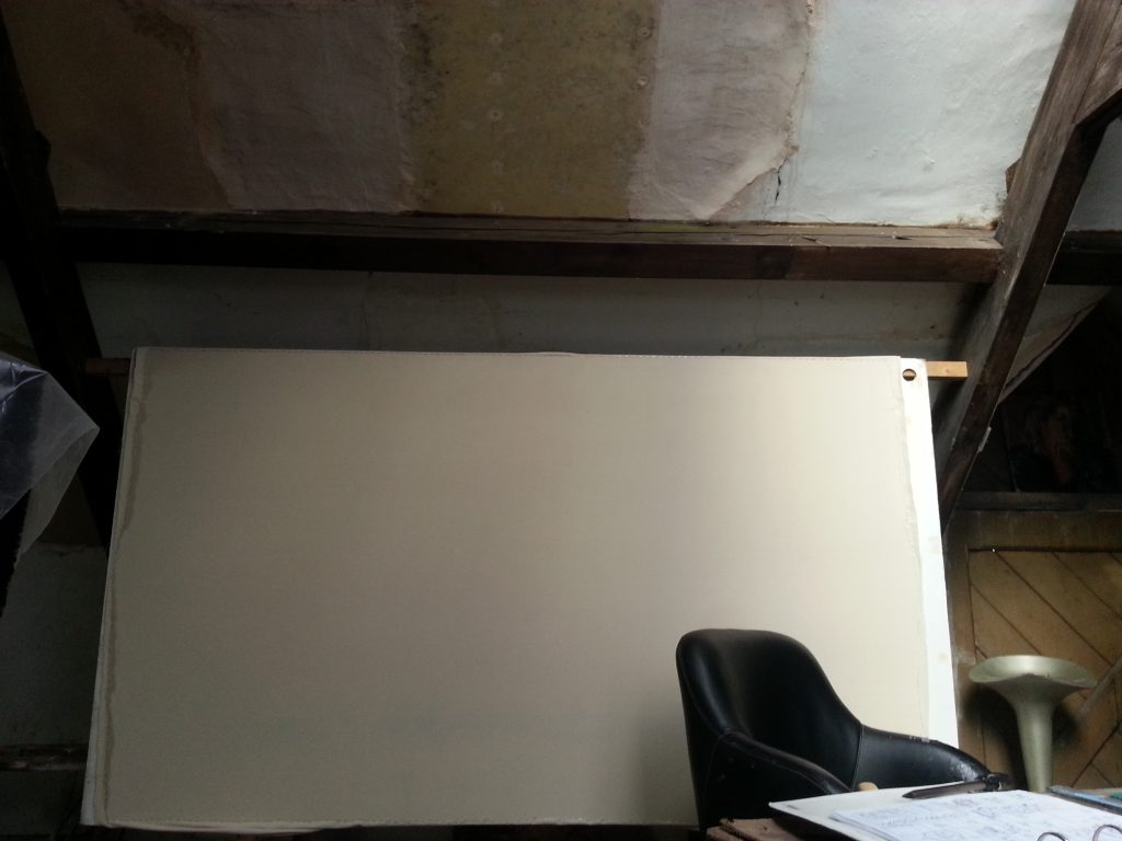 Pic of a blank canvas by alan dedman