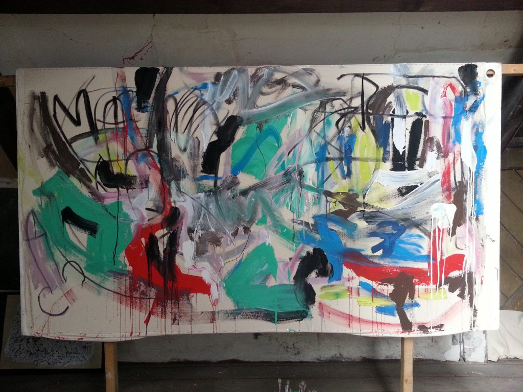 Early stages of a painting by alan dedman