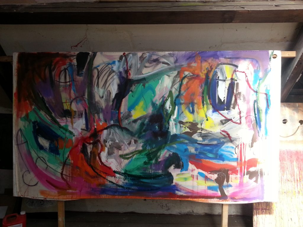 my first big circumcision painting colour pic by alan dedman