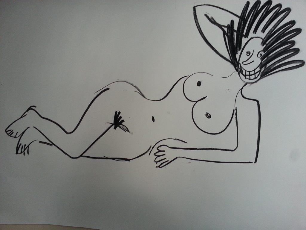 A typical student drawimg  alan dedman