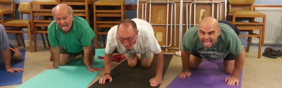 Yoga for blokes doing Simhasana