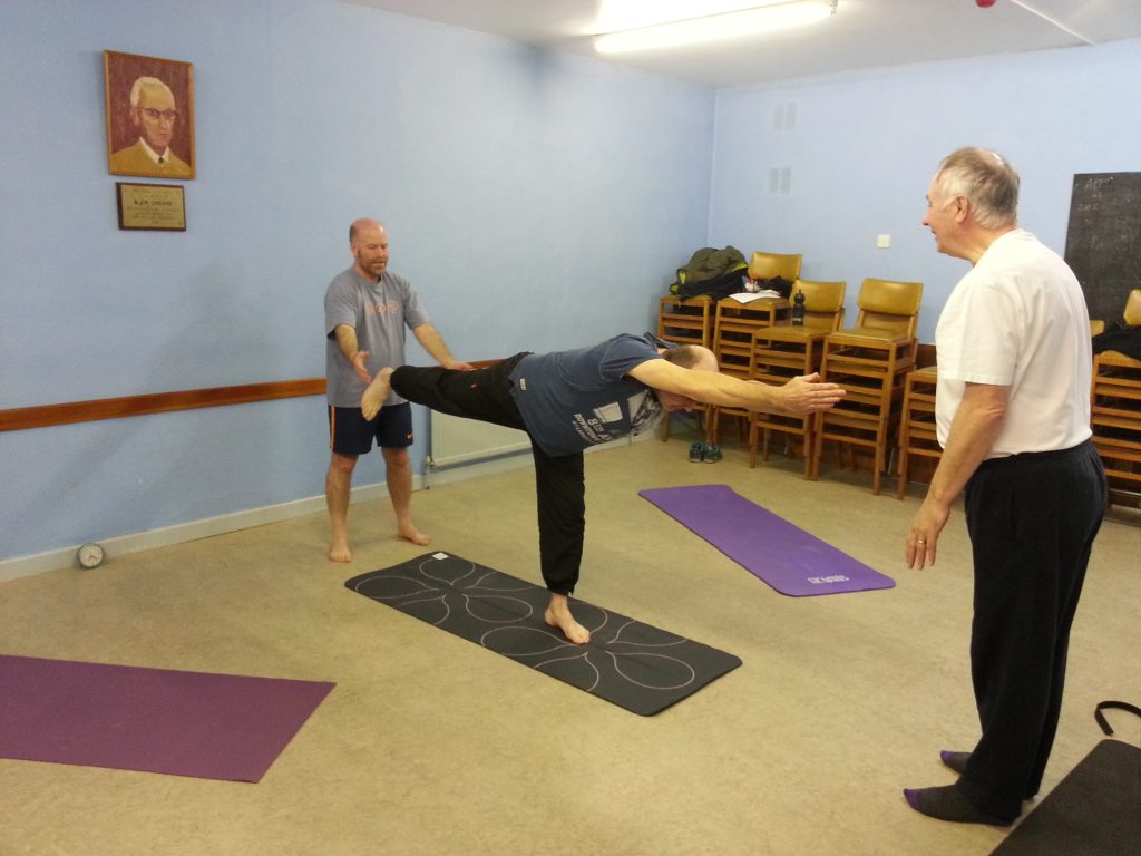 photo of group work at yoga for blokes alan dedman