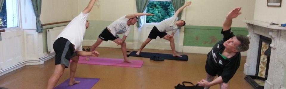 Yoga for Blokes Uttitha Parsvakonasana