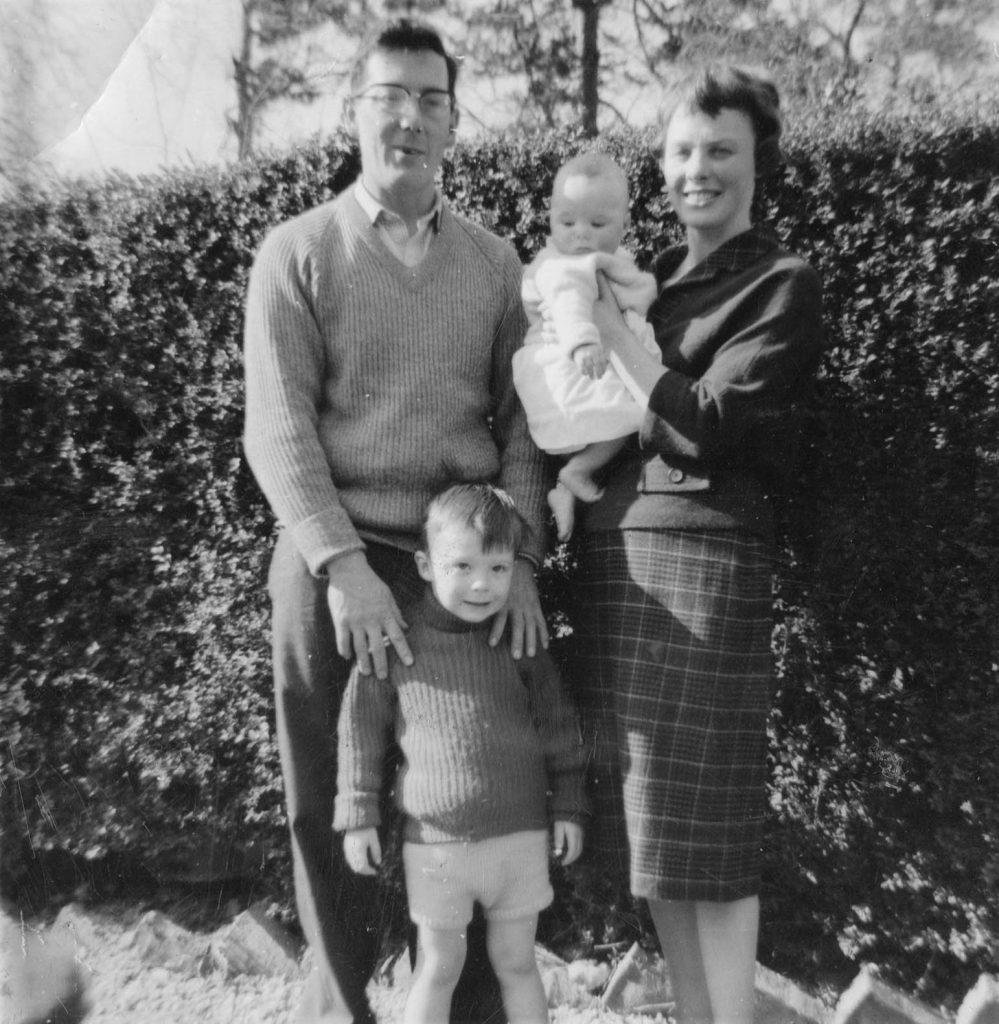Black and white pic of Basil Claire Rita and Alan basil george dedman obituary alan dedman