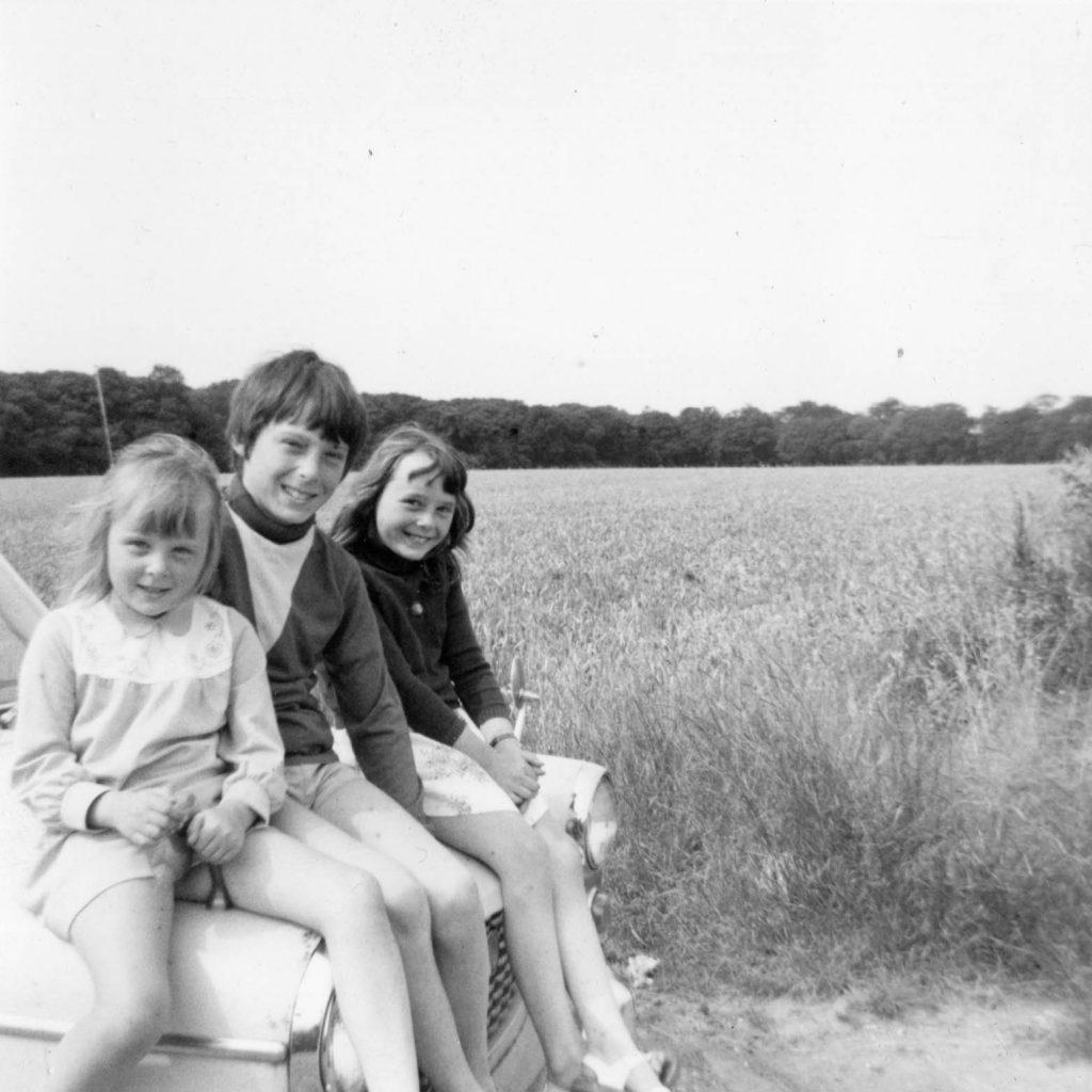 Caroline Alan and Claire in Norfolk alan dedman basil george dedman obituary