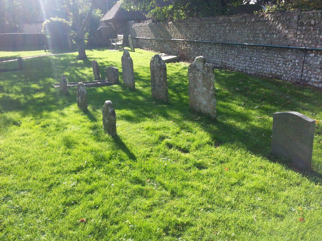 photo of the graveyard at rodmell basil george dedman obituary alan dedman
