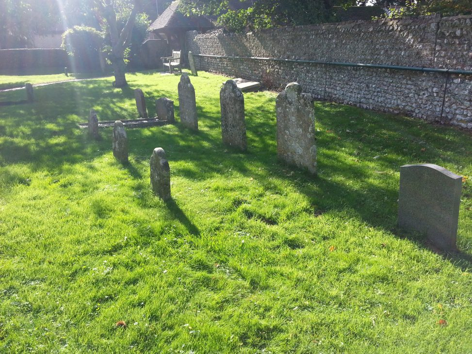 colour pic of graveyard at rodmell basil george dedman obituary alan dedman