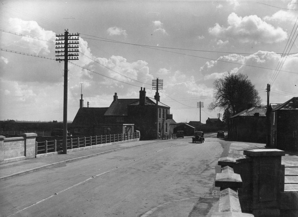 black & white pic of the tyd gote at leverington alan dedman basil george dedman obituary