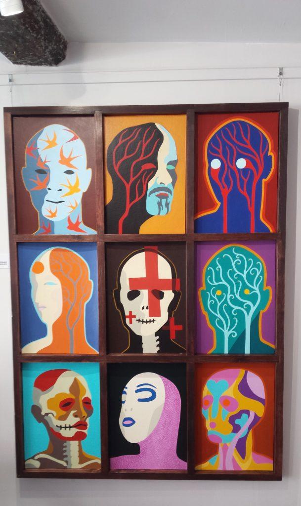 Alex Binnie paintings pic of them by Alan Dedman