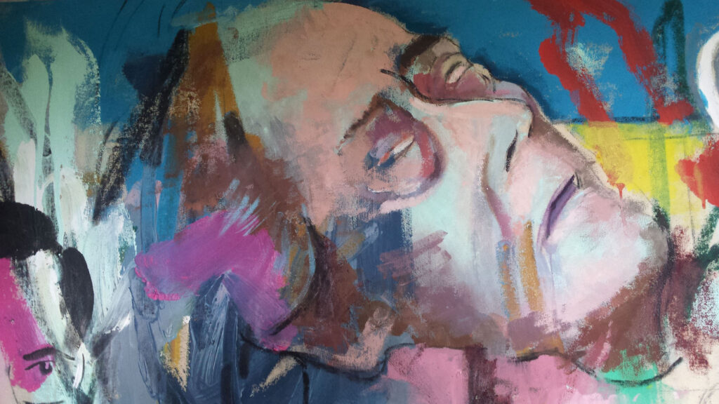 Dying visage of Basil from original sketch by Alan Dedman
