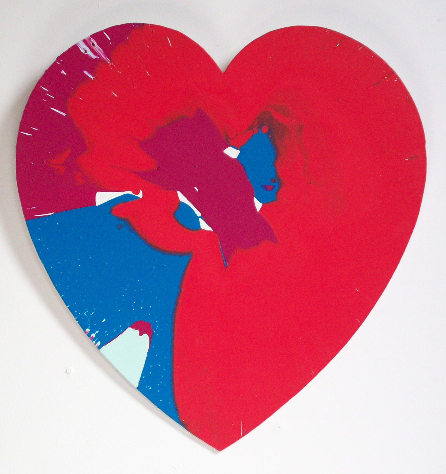 Heart spin painting of color catalogue alan dedman