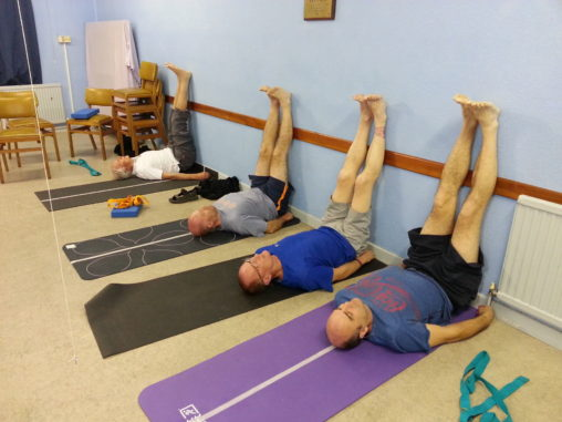 Viparita Karani Yoga for blokes alan dedman