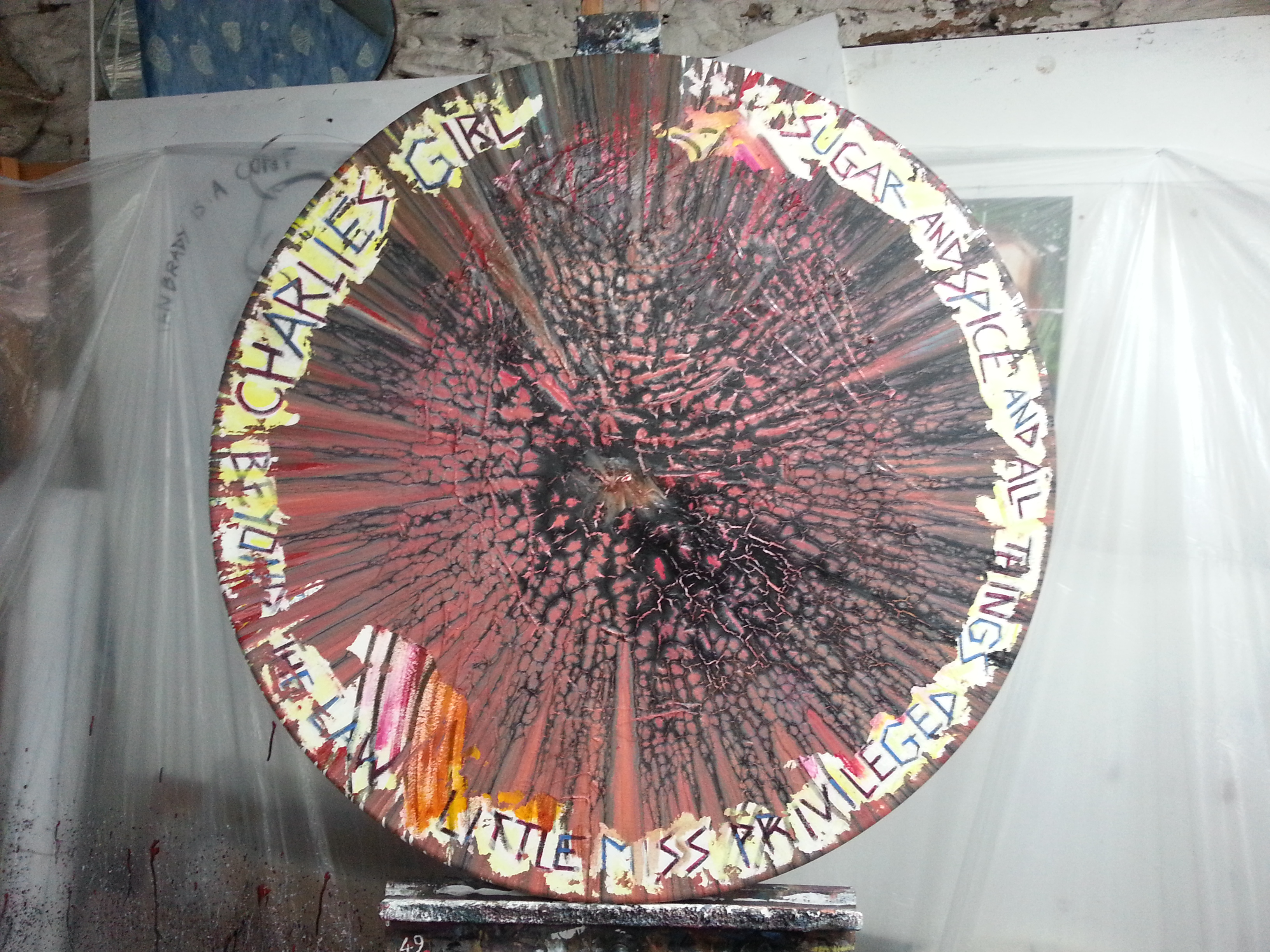 lavinia spin painting of color by alan dedman