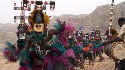 Kanaga-Dogon dancers relatives Mali rites masks